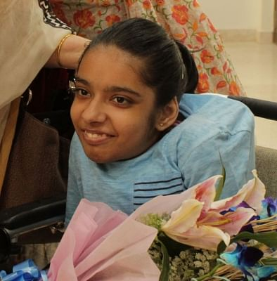 Gurugram: Anushka Panda, Central Board of Secondary Education (CBSE) class 10 topper in the differently-abled category, in Gurugram on May 29, 2018. Anushka score 489 marks out of 500. (Photo: IANS)