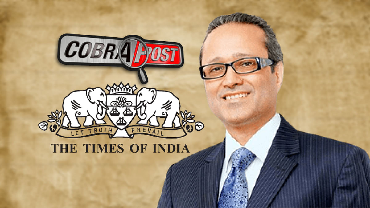 Cobrapost reporter Pushp Sharma conducted a sting operation on Times Group MD Vineet Jain.