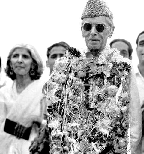 File photo of Muhammad Ali Jinnah landing in Pakistan after Independence in 1947.