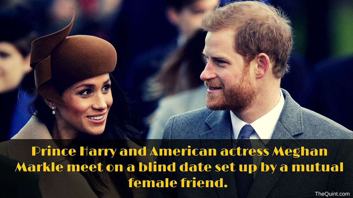 Meghan and Harry met on a blind date!