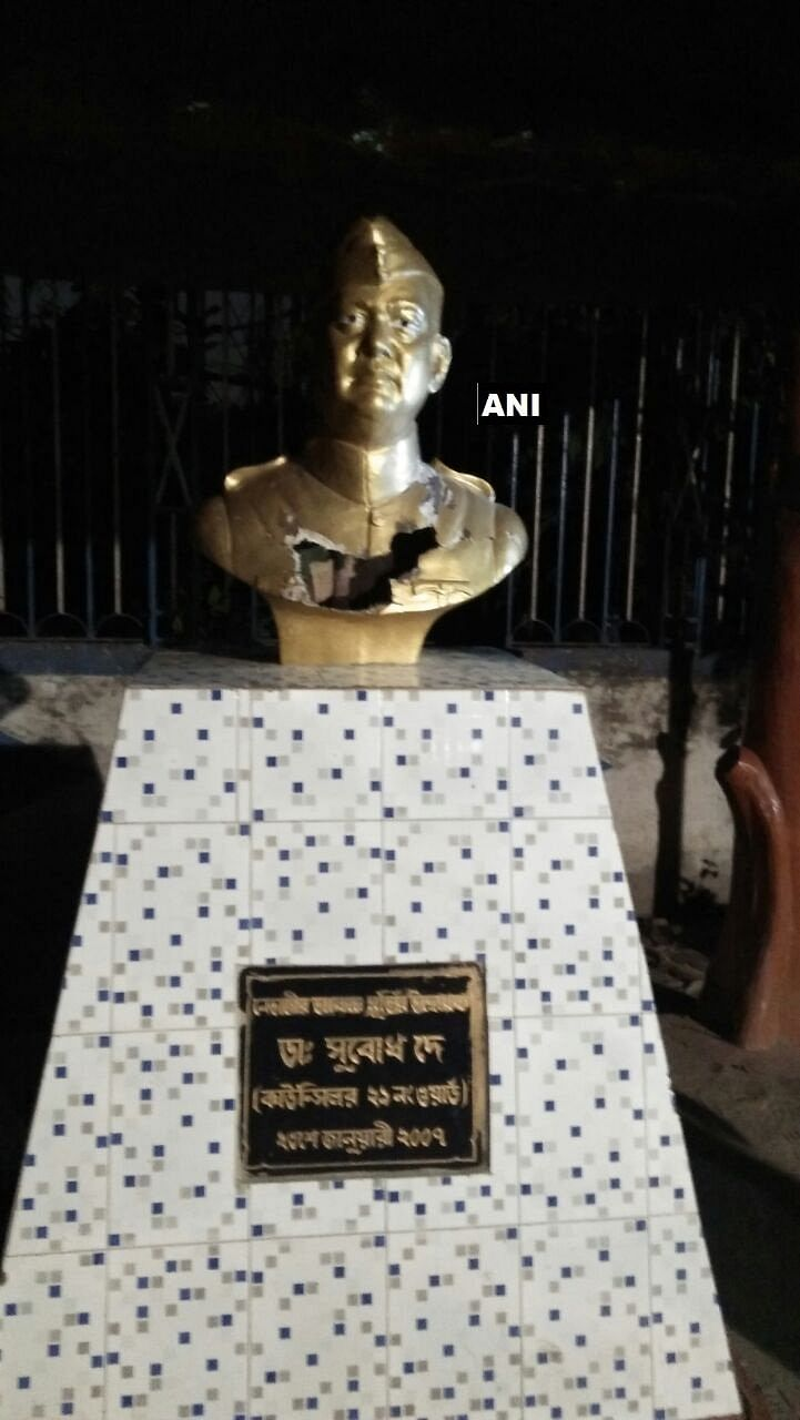 Netaji Subhas Chandra Bose's Statue Vandalised in Kolkata