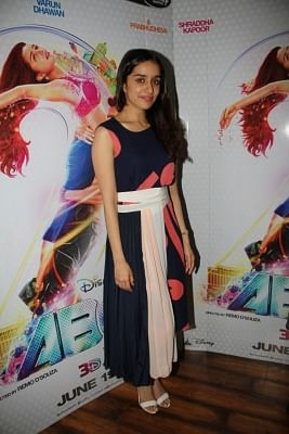 Mumbai: Actress Shraddha Kapoor during the promotion of film Any Body Can Dance 2 (ABCD2) in Mumbai, on June 24, 2015. (Photo: IANS)
