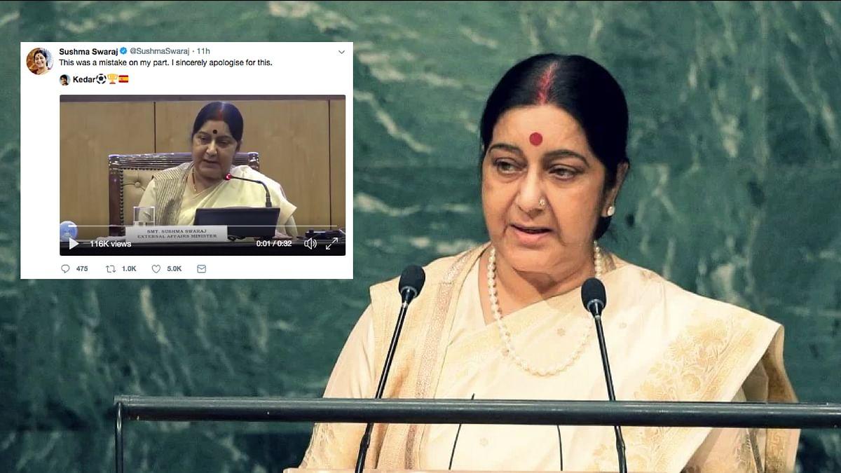 External Affairs Minister Sushma Swaraj.