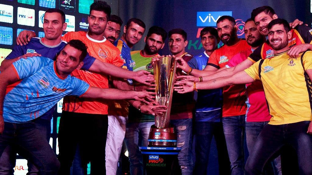 File photo of team captains ahead of Pro Kabaddi League season 5 in 2017.