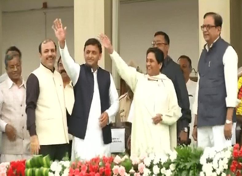 'Bua' Mayawati and 'Bhatija' Akhilesh attend the swearing-in ceremony in Bengaluru