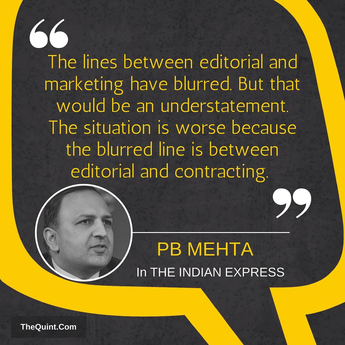 Cobrapost Op Shows Media's Disrespect For People, Writes PB Mehta