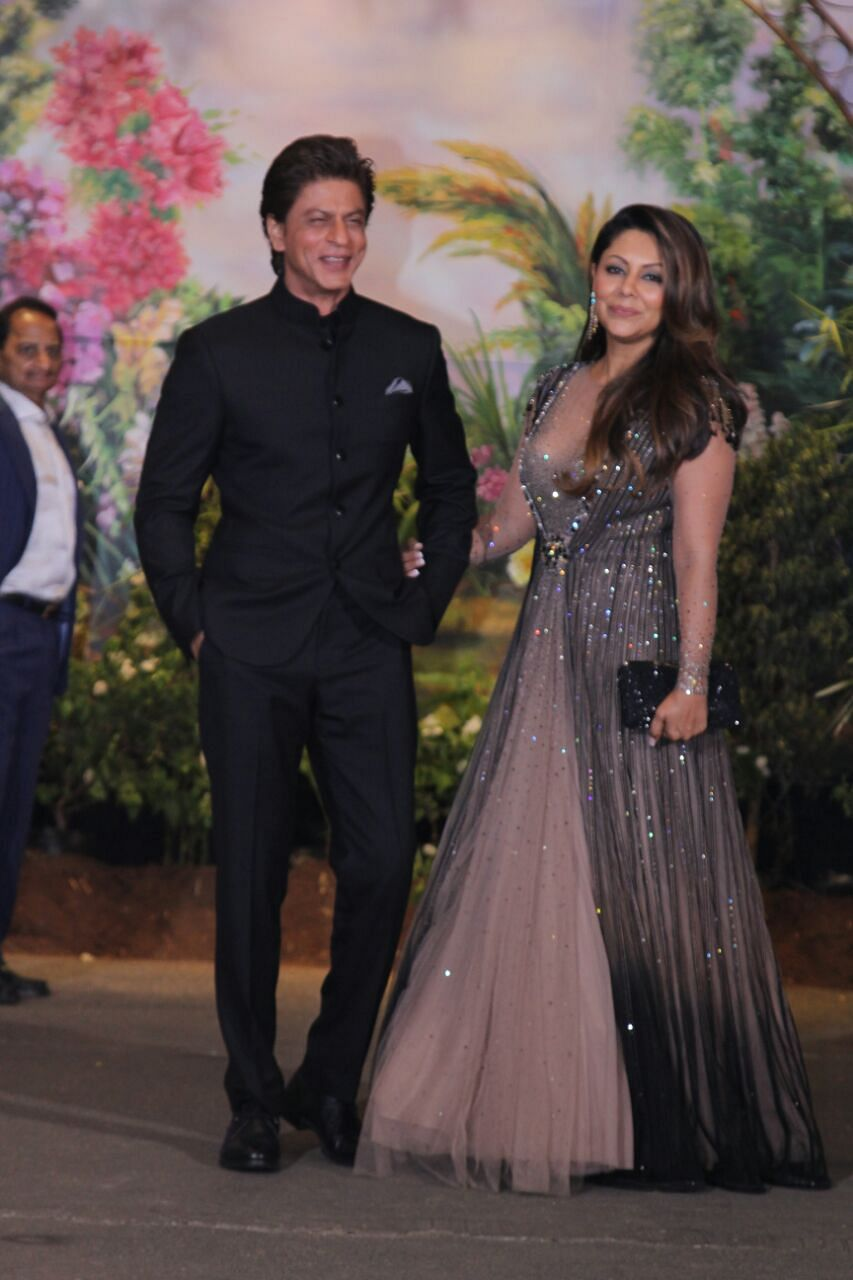 The most coveted starry couple is here - SRK and Gauri Khan.