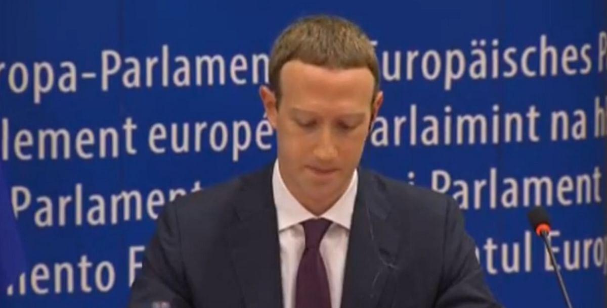 Mark Zuckerberg at the European Parliament.