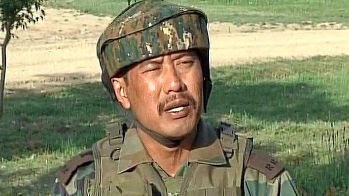 File Photo of Major Nitin Leetul Gogoi of the Rashtriya Rifles 53rd battalion.
