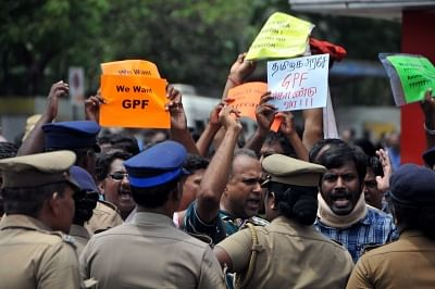 Protesting government employees, teachers held in Chennai