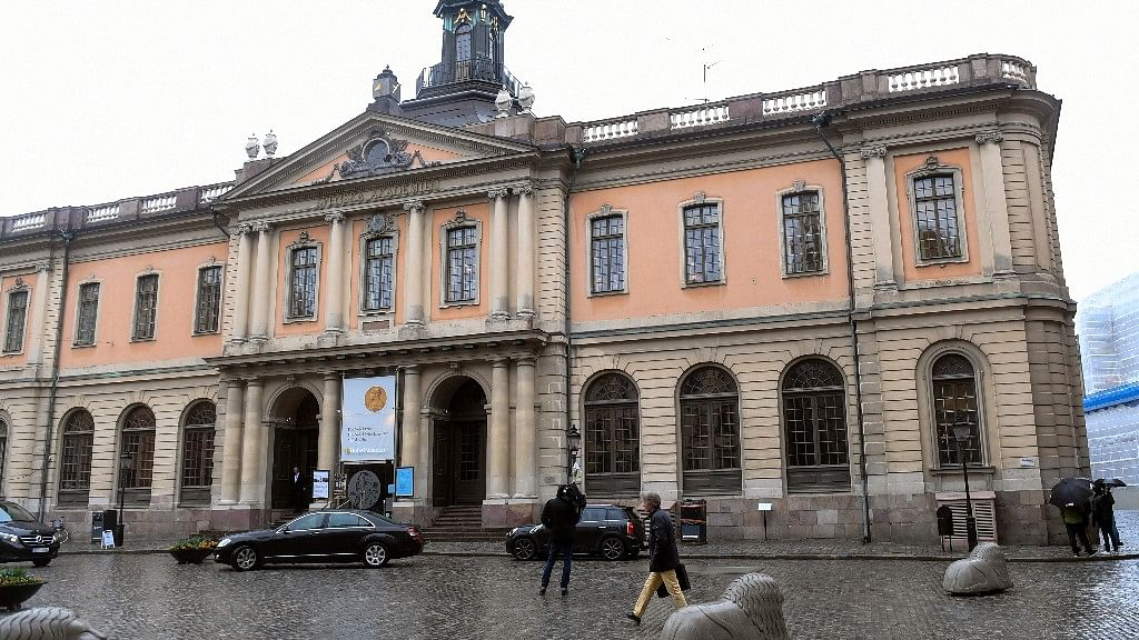 The old Stock Exchange Building, home of the Swedish Academy, in Stockholm.