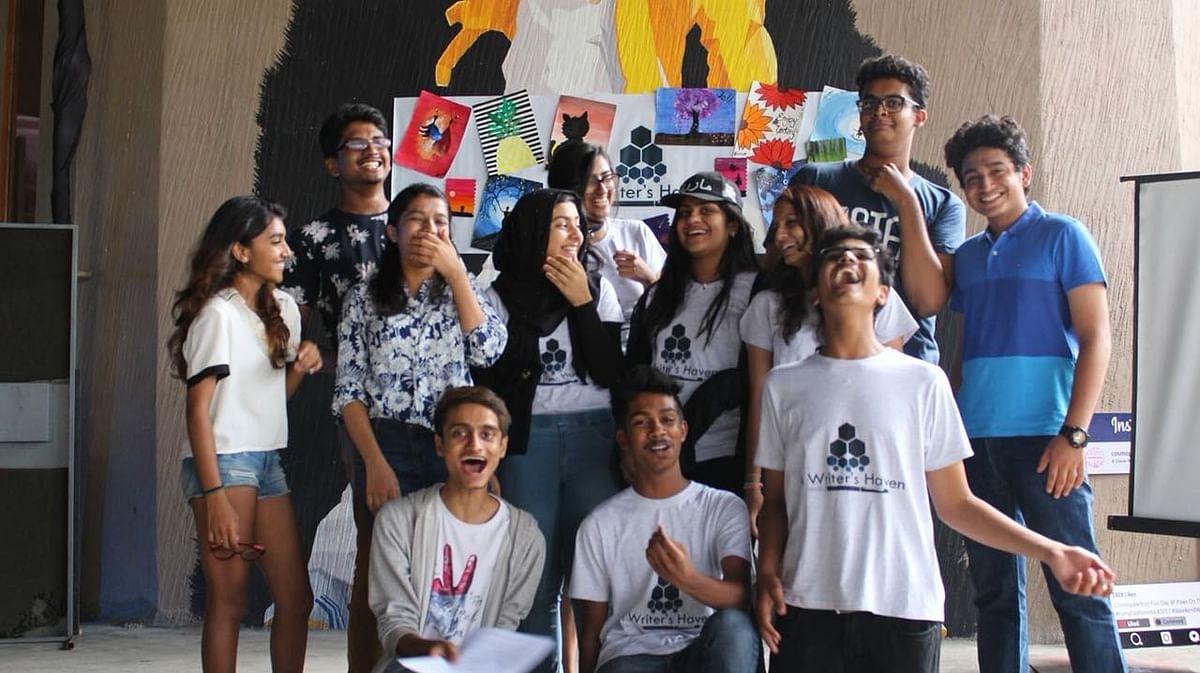 A photo of Ashwath Narayanan's poetry group.