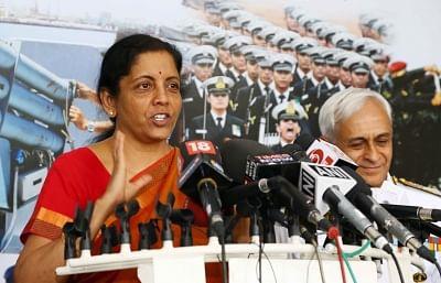 New Delhi: Defence Minister Nirmala Sitharaman during Naval Commanders