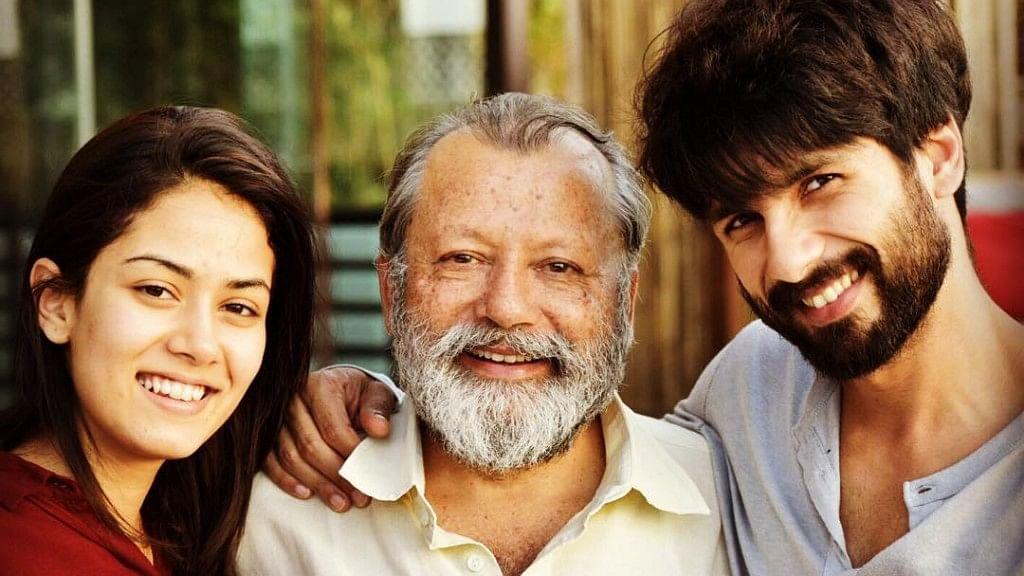 Mira Rajput, Pankaj Kapur and Shahid Kapoor.