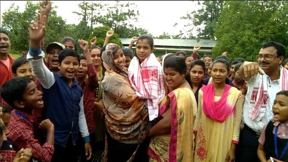 Jebin Kousar scored a First division in her board exams.