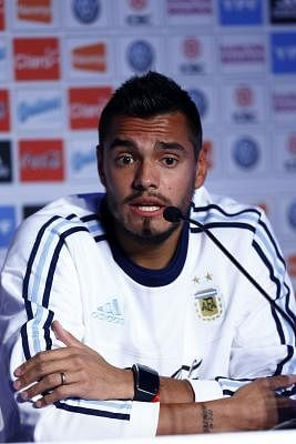 Player from the Argentine soccer national team Sergio Romero offers a press conference at the Serena Suite hotel in La Serena (Chile) on 14 June 2015. Argentina will be facing Uruguay on 16 June in a Copa America 2015 Group B soccer match. EFE/Javier Valdes Larrondo