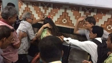 A couple was harassed and beaten up in Kolkata for hugging each other inside a metro compartment.