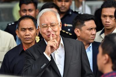 Former Malaysian Prime Minister Najib Razak (C). (Xinhua/Chong Voon Chung/IANS)
