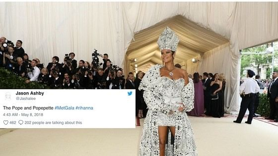 Rihanna was one of the most meme-d celebrity of the night.