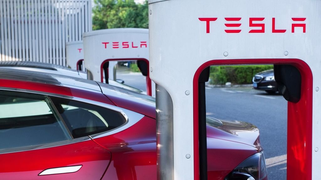 Tesla supercharger stations can charge a car up to 100 percent in 75 minutes or 50 percent in 20 minutes.