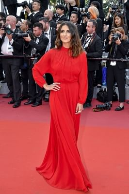 """CANNES, May 8, 2018 (Xinhua) -- French actress Geraldine Nakache attends the screening of """"Everybody Knows"""" and the opening gala of the 71st Cannes International Film Festival at Palais des Festivals in Cannes, France, on May 8, 2018. The 71st Cannes International Film Festival rose its curtain on Tuesday with a gathering of movie industry professionals and cinema stars headed from all over the world to the French Riviera. (Xinhua/Chen Yichen/IANS)"""