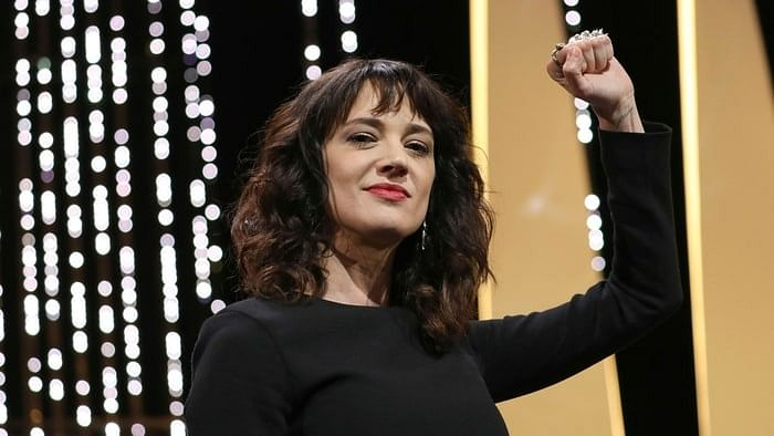 Asia Argento  at the Cannes closing ceremony.