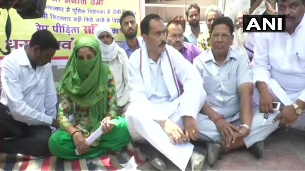 Woman Alleges Sexual Assault by BJP MLA & Son, Holds Dharna