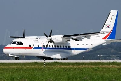Seoul: This photo released by the defense ministry on May 23, 2018, shows a government-owned transport plane that will carry a group of South Korean journalists, who were chosen to cover the dismantlement of North Korea