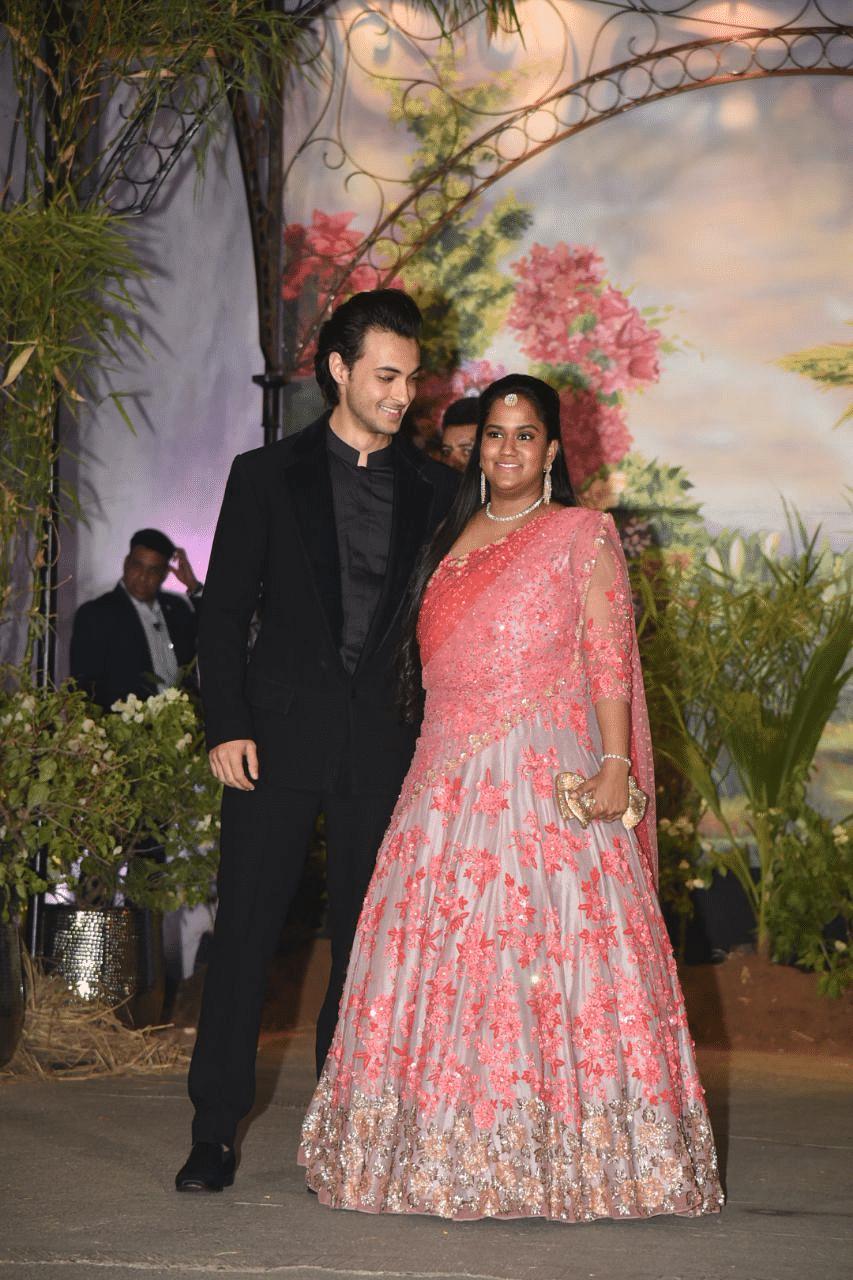 Arpita Khan with husband Ayush Sharma