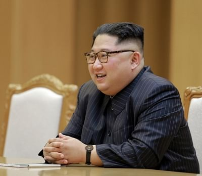 PYONGYANG, May 10, 2018 (Xinhua) -- Photo provided by the Korean Central News Agency (KCNA) on May 10, 2018 shows Kim Jong Un, top leader of the Democratic People