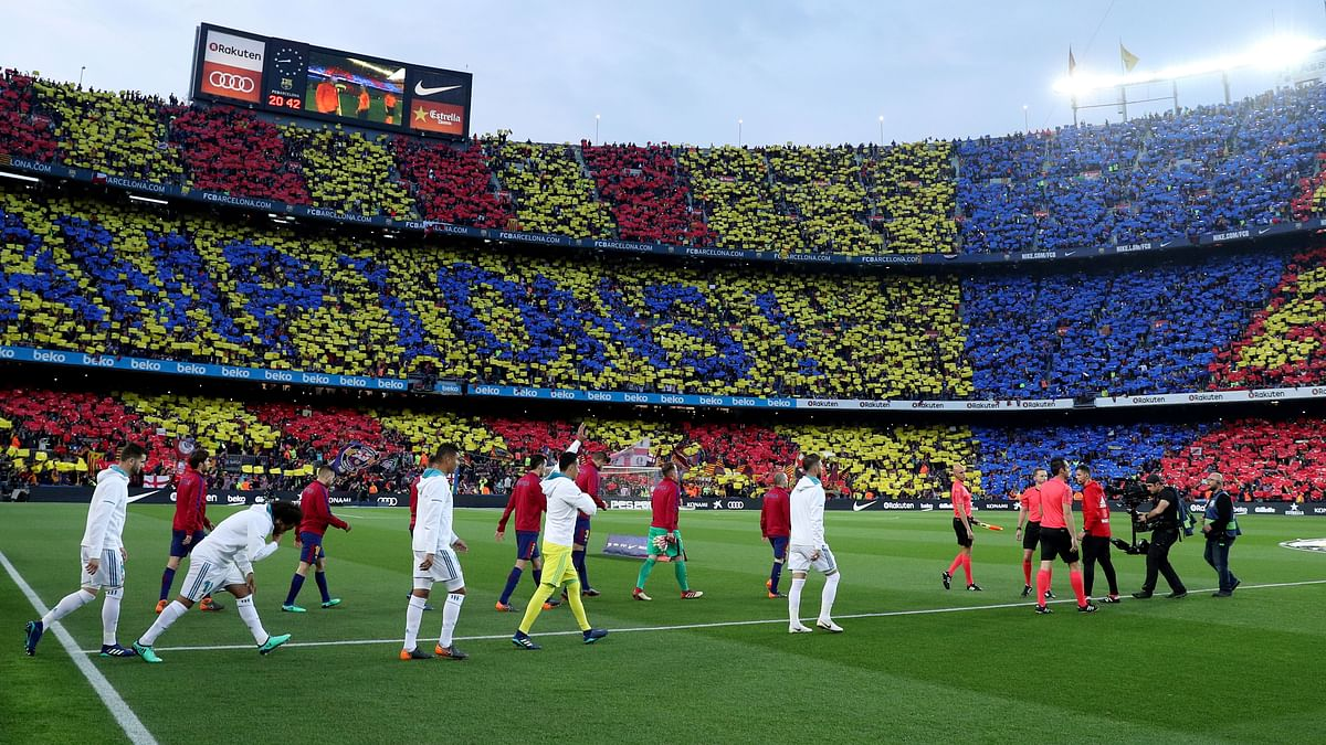 File image of an El Classico clash at the Camp Nou.