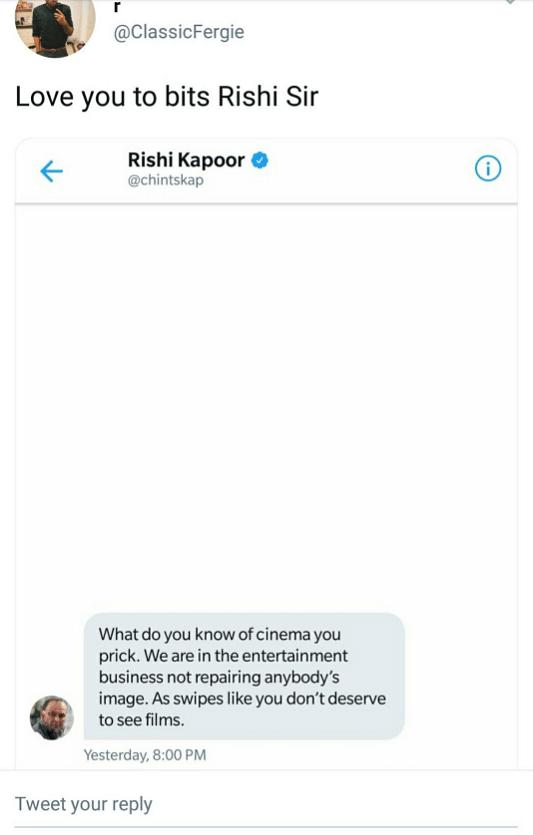 Rishi Kapoor Abuses on Twitter Again, Aditi Mittal Calls Him Out