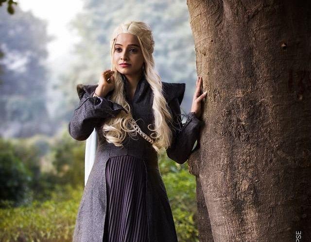 Rhea Chowdhury cosplaying as Daenerys Targaryen.
