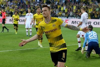 File image of Marco Reus celebrating his goal for Dortmund.