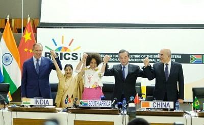 Pretoria: External Affairs Minister Sushma Swaraj with China
