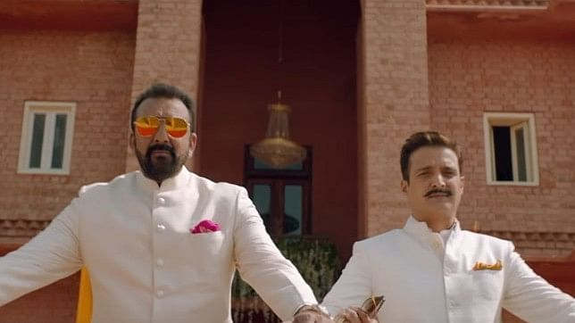 Sanjay Dutt and Jimmy Shergill in a still from the trailer of 'Saheb, Biwi Aur Gangster 3'