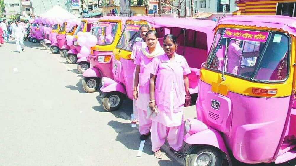 The pink auto range that was launched for women drivers and riders.