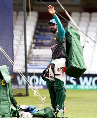 Pakistani cricketer Mohammad Hafeez. (Photo: Surjeet Yadav/IANS)