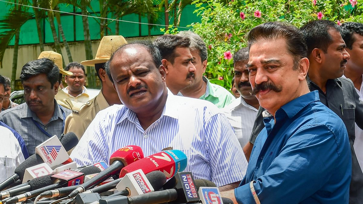 Discussion Not About Films: Kamal Haasan on Meeting Kumaraswamy