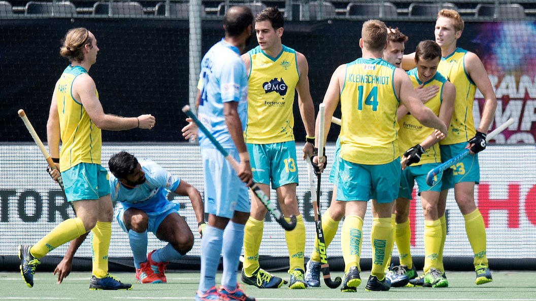 India lost to Australia in their third match of the FIH Champions Trophy hockey tournament.