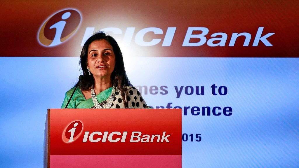 ICICI Bank's Chief Executive Officer Chanda Kochhar speaks during a news conference at the bank's headquarters in Mumbai on 10 February 2015.