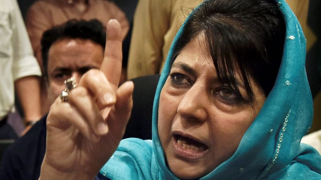 File image of J&K former Chief Minister Mehbooba Mufti.