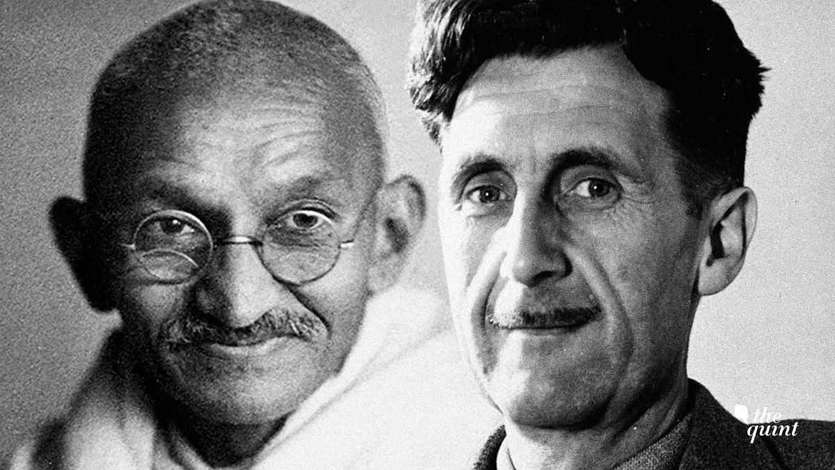George Orwell kept aside Gandhi's sainthood and assessed him as a plain politician.