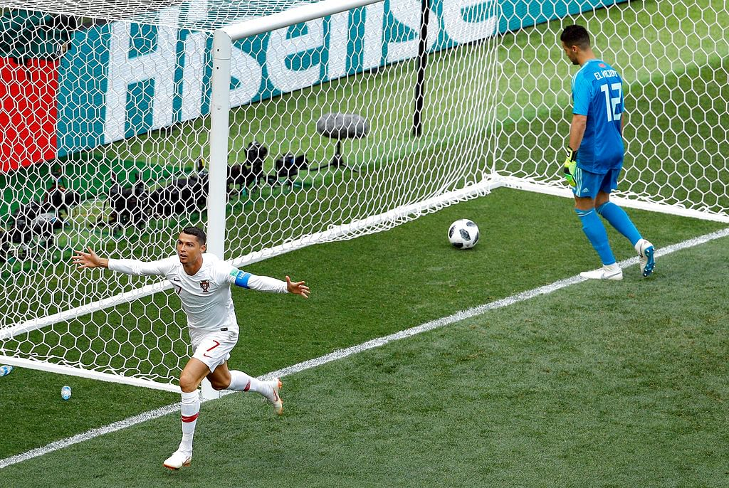 For the World Cup, the Golden Boot-leader has incorporated a ballet-like flourish to his usual celebration