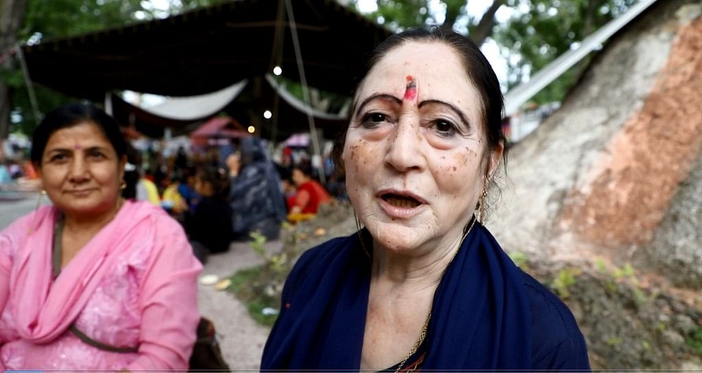 Sarika, a Jammu resident and a devotee, is among hundreds who are attending the festival.