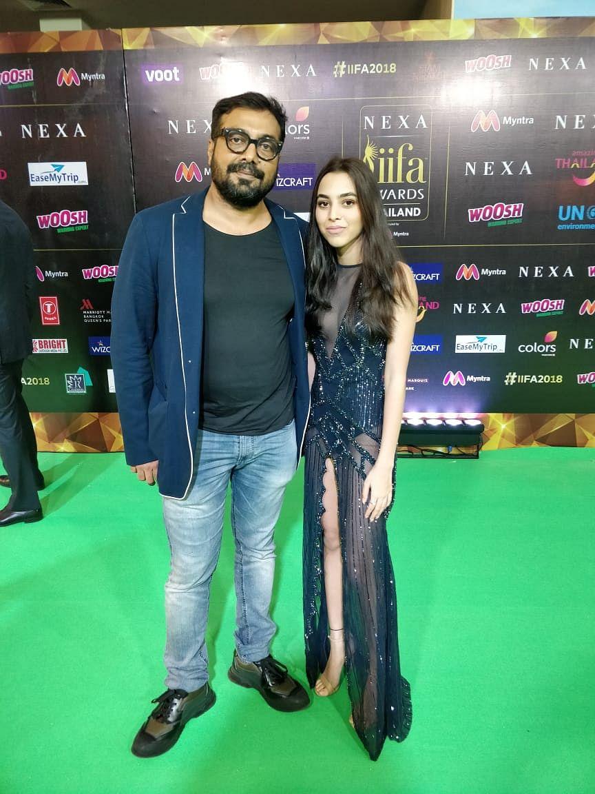 Director Anurag Kashyap arrives with daughter, Aaliya at IIFA 2018.