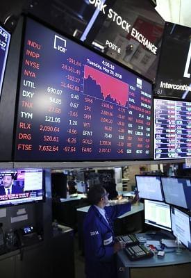 US stocks higher as retailer, tech shares gain . (Xinhua/Wang Ying/IANS)