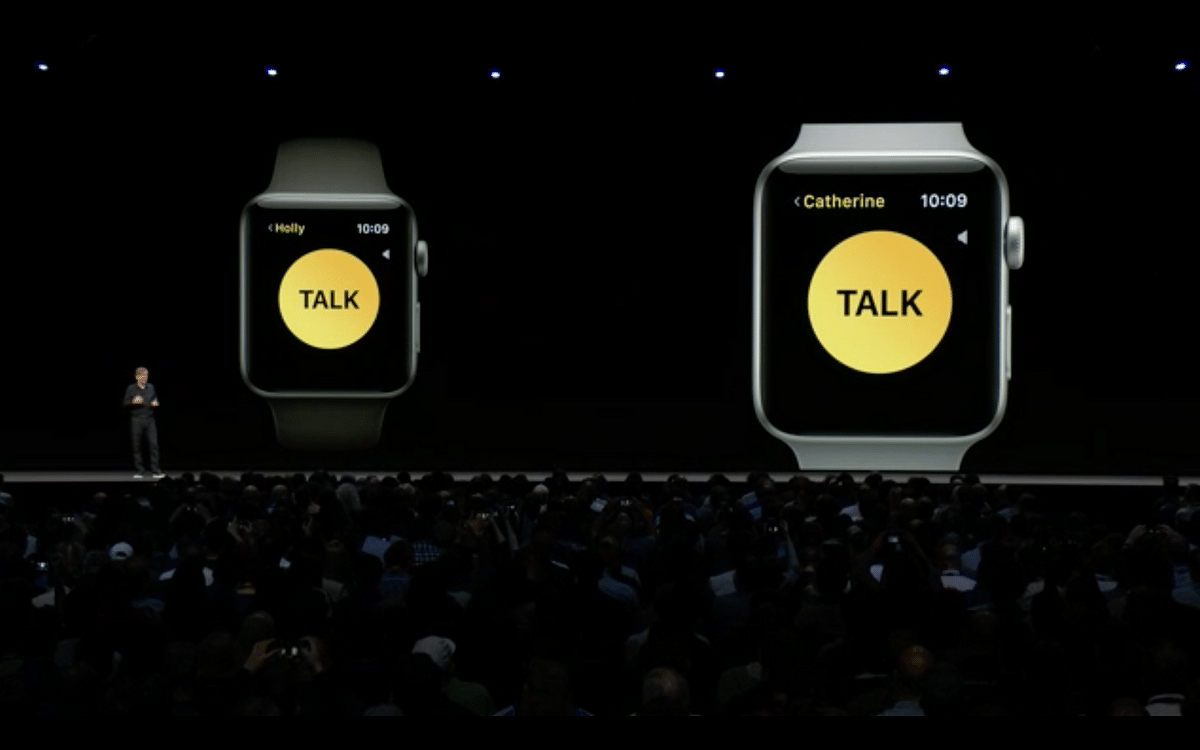 The Walkie Talkie feature on the new Apple Watch