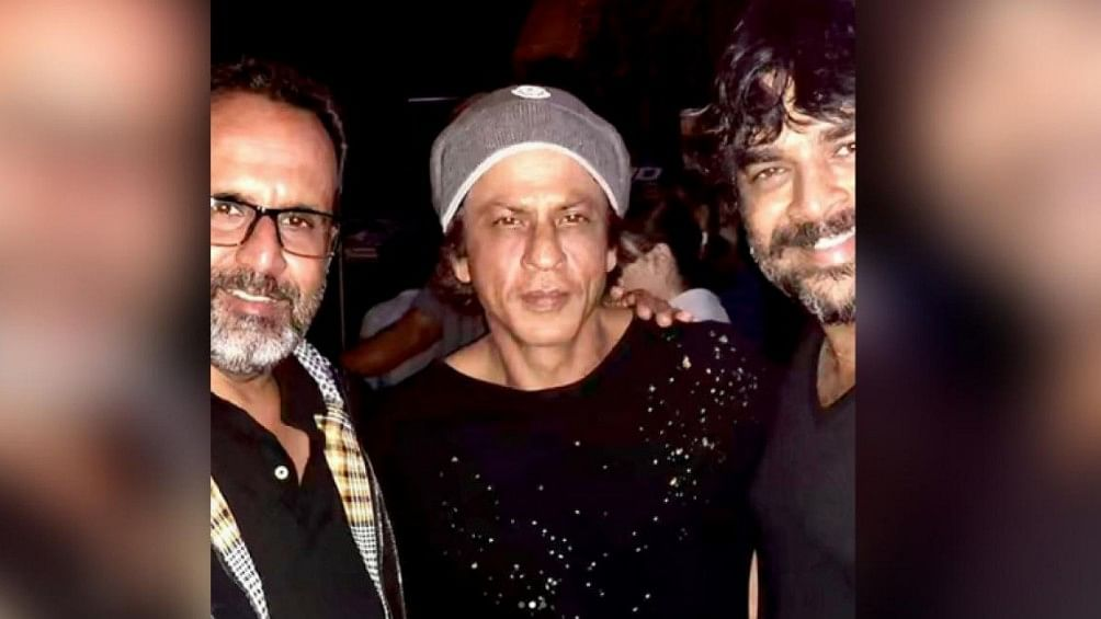 Shah Rukh Khan may be busy shooting for Zero, but isn't so busy that he can't take some time out for his co-star's birthday.  (Photo Courtesy: Facebook)