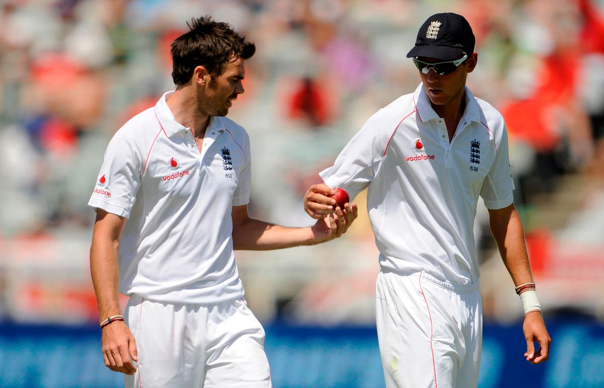 File photo of James Anderson and Stuart Broad.